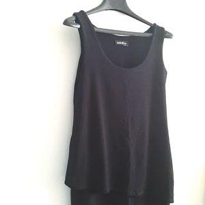 MIIK bamboo two layer black sheath dress size XS